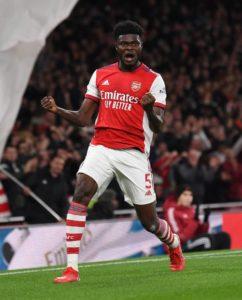 Thomas Partey happy to score first goal for Arsenal
