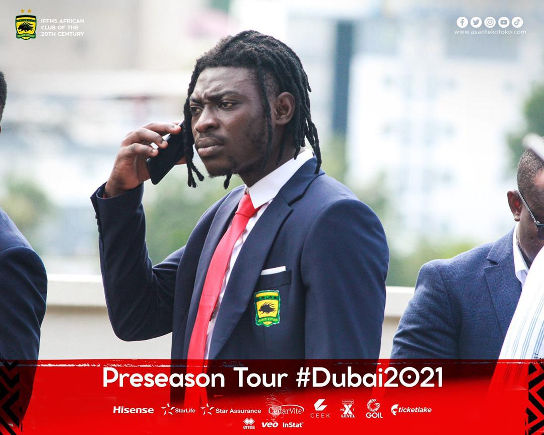 Razak Abalora together with six Asante Kotoko players failed to travel to Dubai for preseason tour